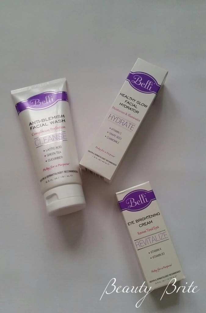 Anti-Blemish Facial Wash, Healthy Glow Facial Hydrator, Eye Brightening Cream beautybrite