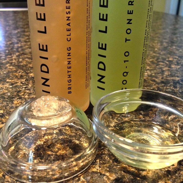 Indie Lee Brightening Cleanser and COQ-10 Toner