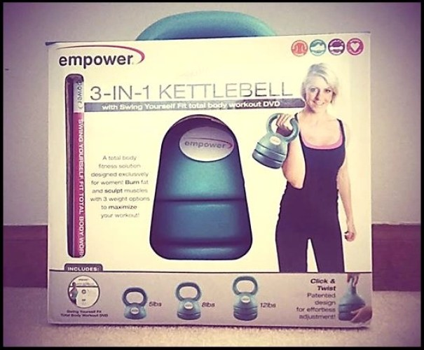 empower 3-in-1 kettlebell with DVD