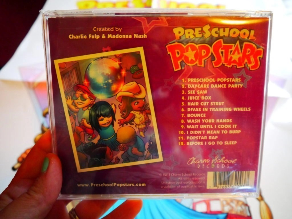 Preschool PopStars Cd Back