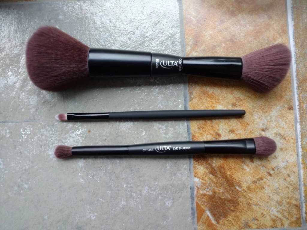ULTA Beautiful Face Kit Blush and Contour Brush, Lip Brush, Eyeshadow Brush