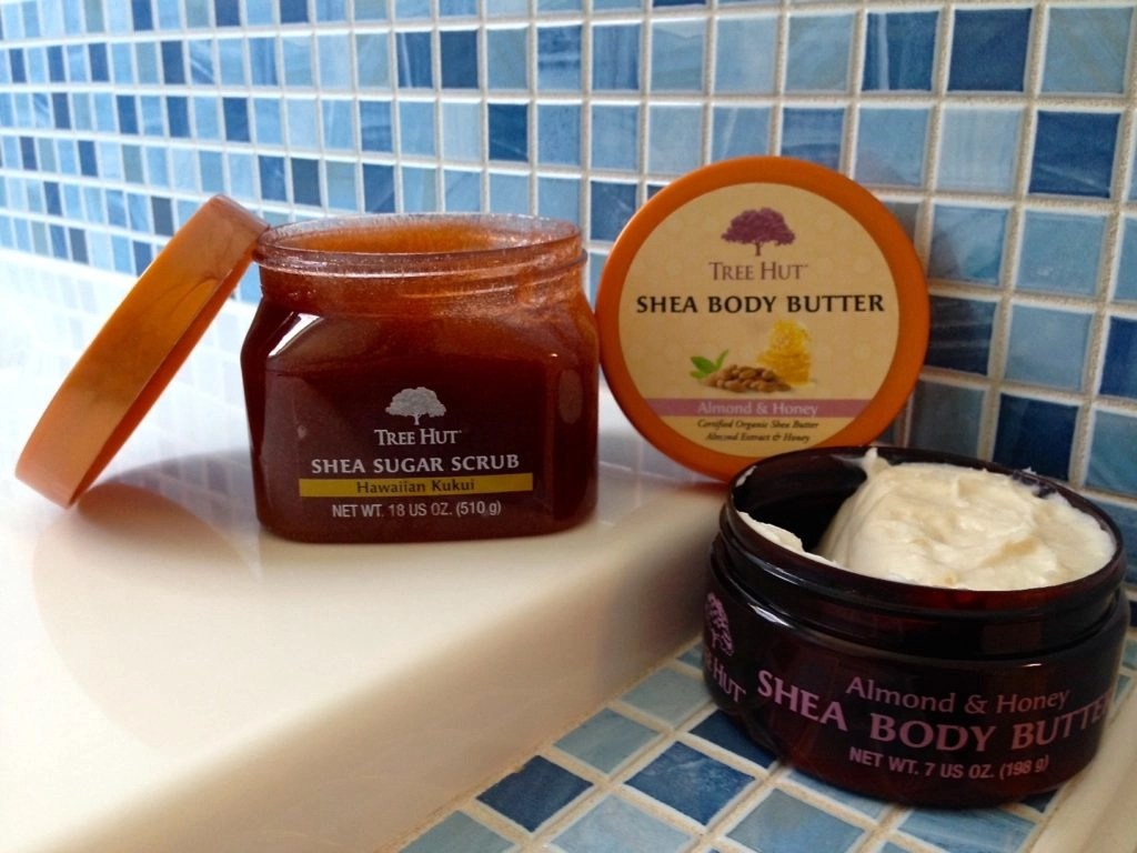Tree Hut Bath Care-Hawaiian Kukui Sugar Scrub-Almond and Honey Body Butter