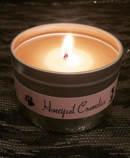 Honeycat Cat on a Hot Tin Candle 2