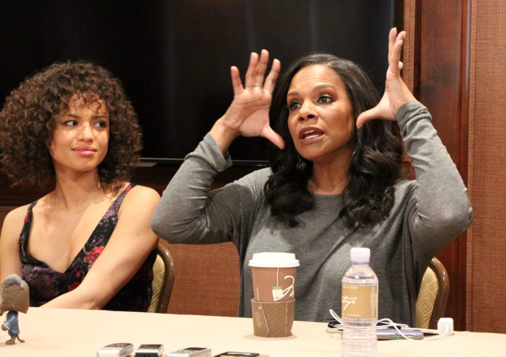 Gugu Mbatha-Raw and Audra McDonald on different movie roles
