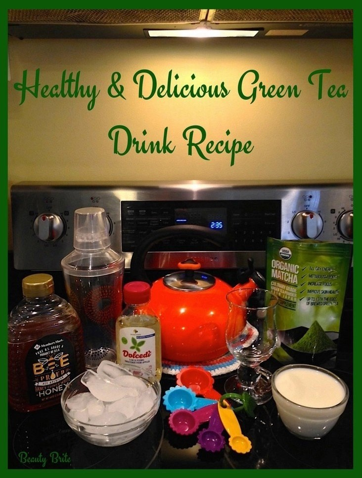 Healthy And Delicious Matcha Green Tea Drink Recipe
