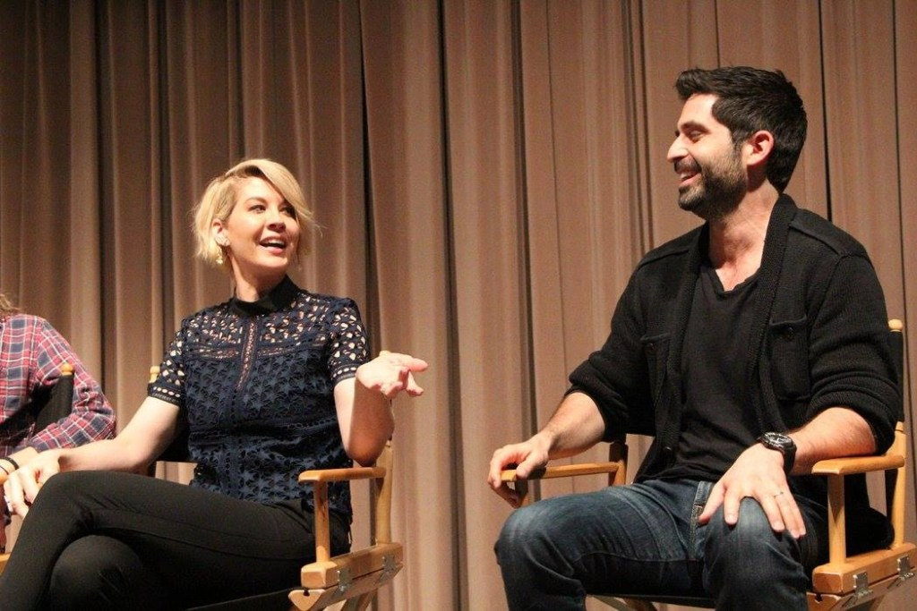 Jenna Elfman and Stephen Schneider