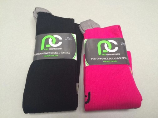 Pro Compression Socks Black and Pink