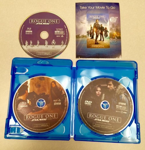 Rogue One A Star Wars Story DVD Inside