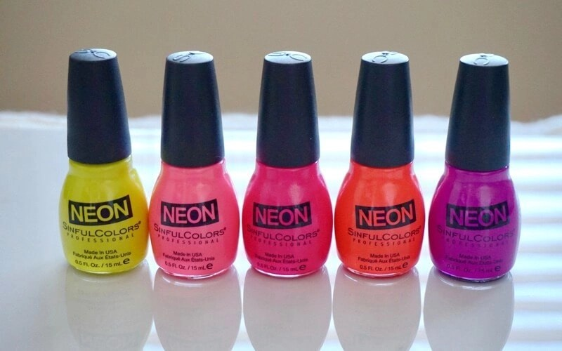 Sinful Colors Neon Collection Lined Up