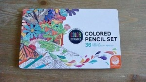 Color By Number Color Pencil Set in the packaging