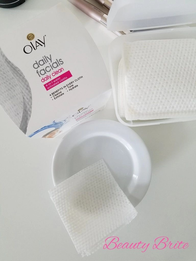 Add water to Olay Daily Facials