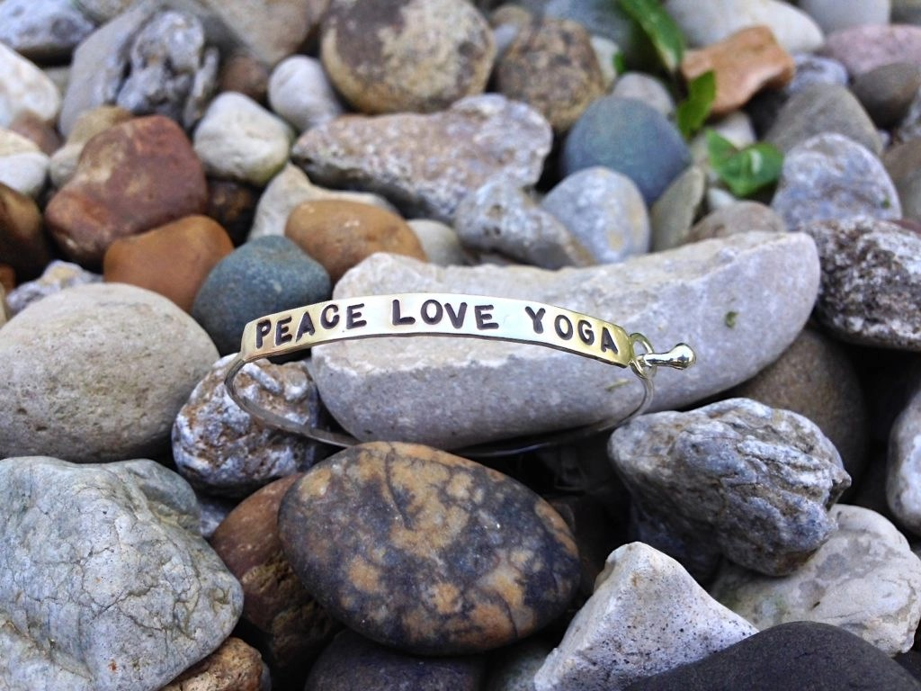 Mind Fuel Nest - Inspirational Jewelry and Clothing-Peace Love Yoga Bracelet