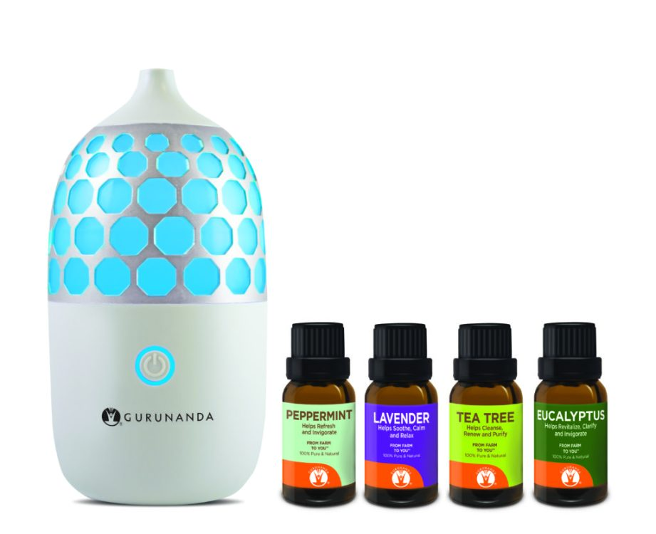 Gurunanda Honeycomb Ultrasonic Diffuser and Essential Oils