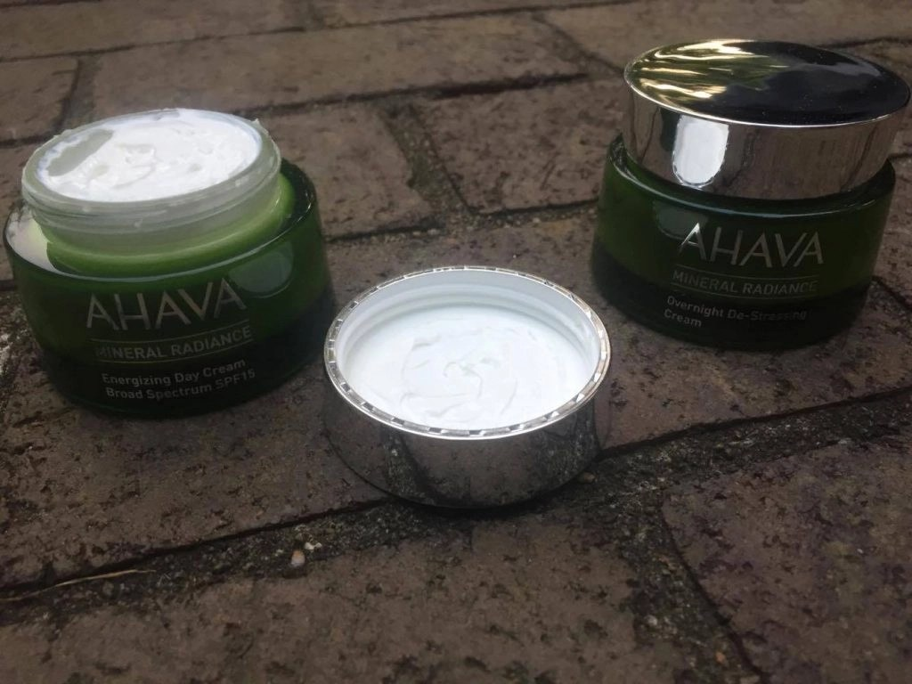 Ahava Mineral Radiance Skin Care Collection day and night cream