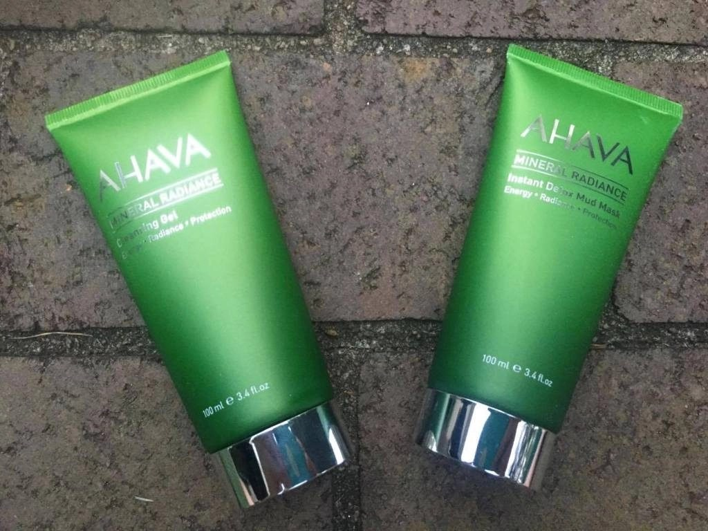 Ahava Mineral Radiance Skin Care Collection mask and gel