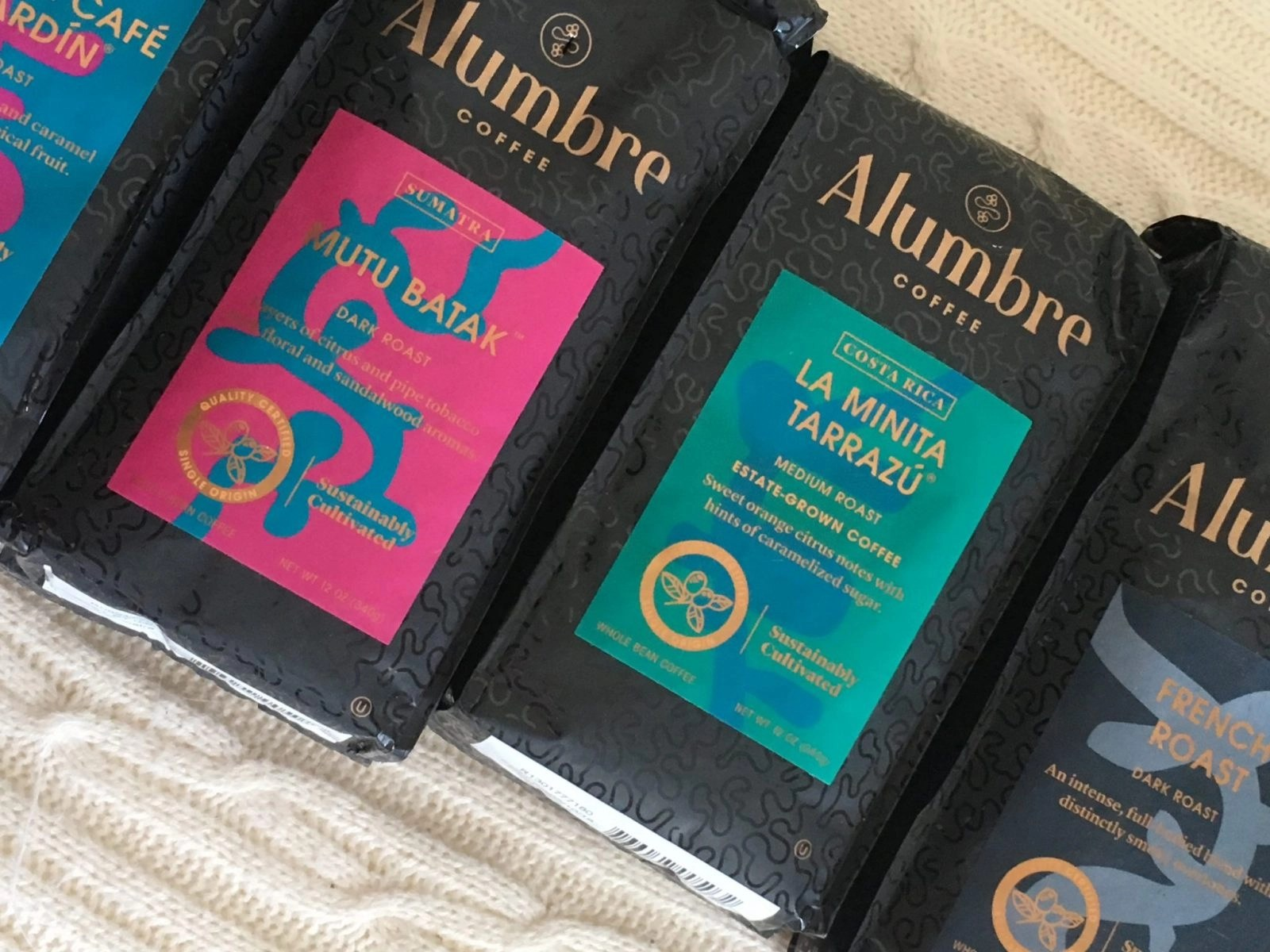 Alumbre Coffee Bags Up Close