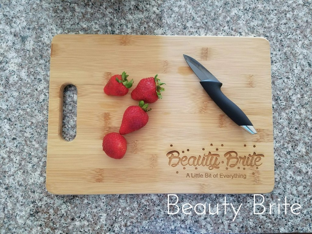 Everything Decorated Personalized Bamboo Cutting Board Front