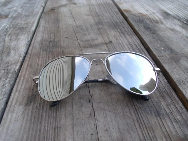 Mirrored Aviators silver frames with gray lense