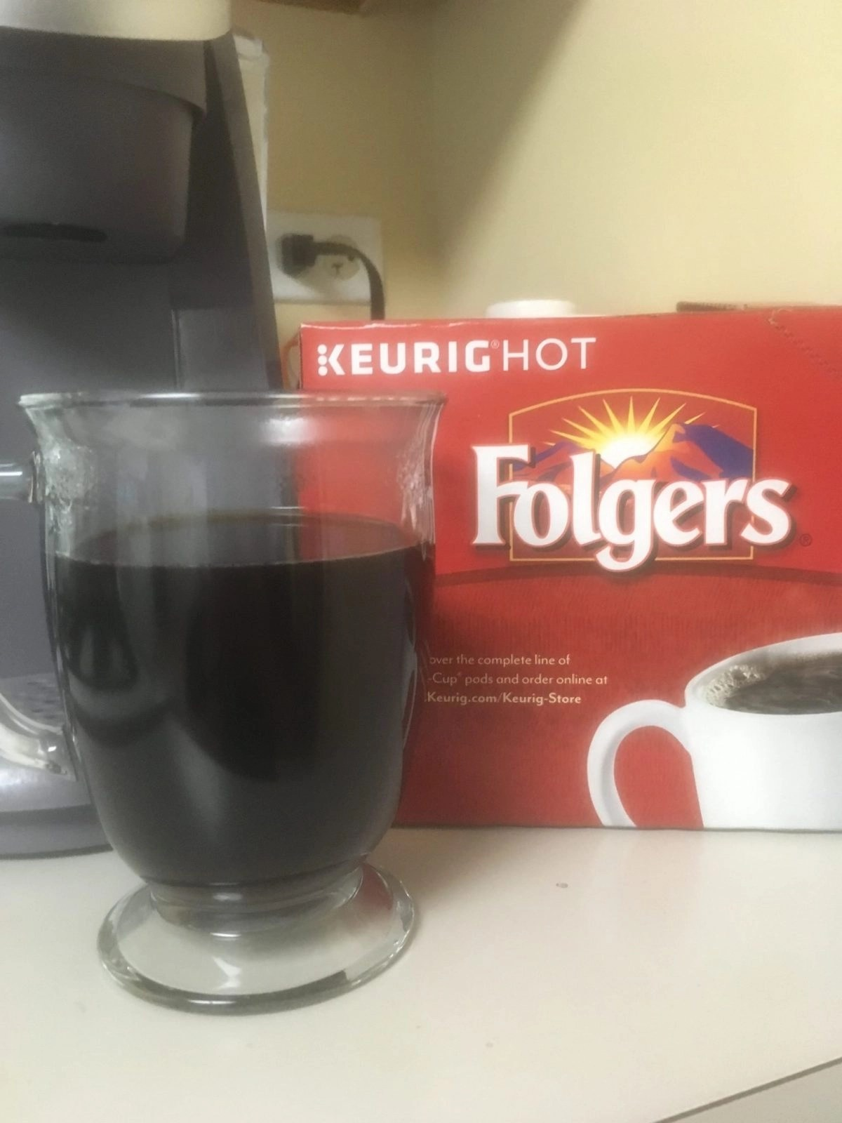 Brewed Folgers Coffee