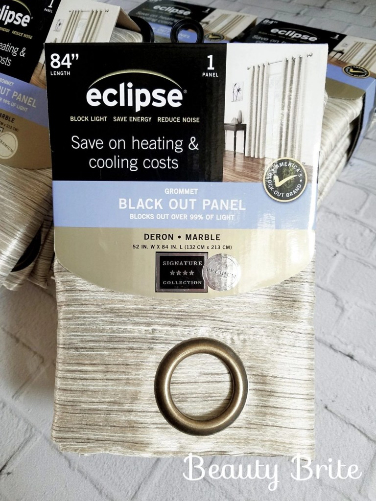 Eclipse Thermalayer Deron Blackout Grommet Curtain Panel in Marble