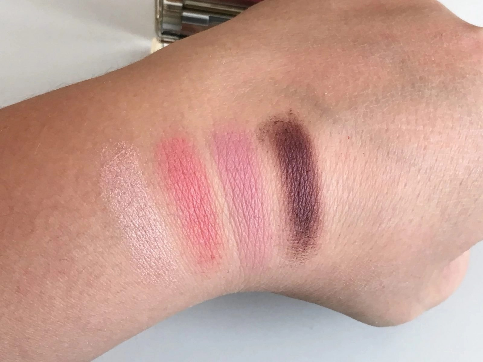 Clarins Eyeshadow Palette in Lovely Rose Swatched