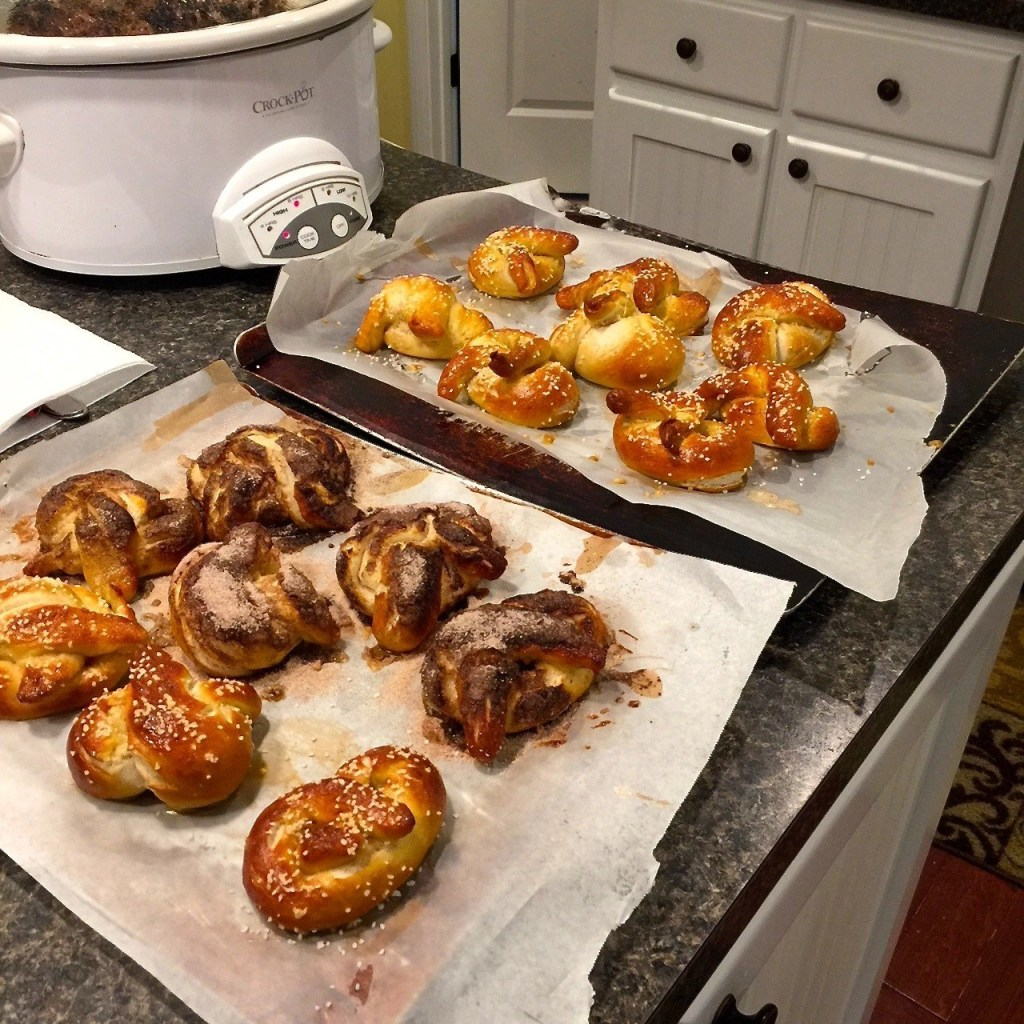 Fun Eats For The Big Game - Homemade Soft Pretzels