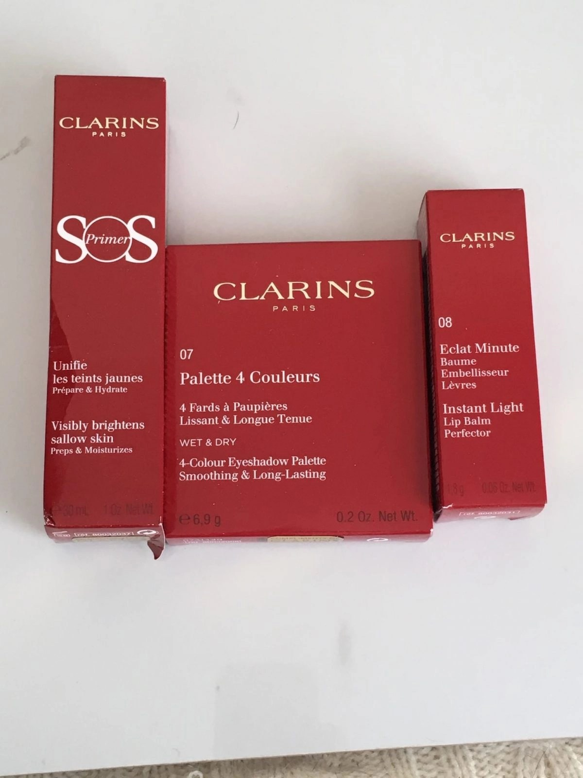 New Clarins Permanent Products in packaging