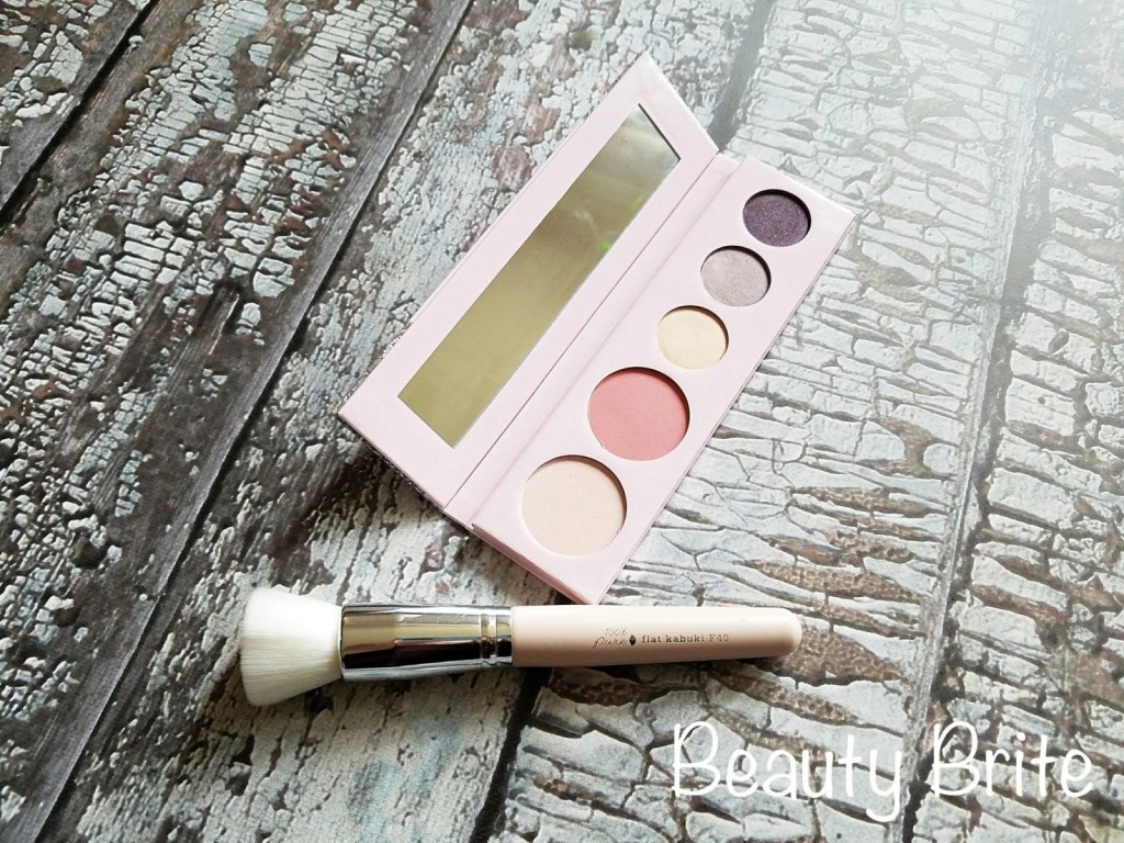 Fruit Pigmented Sex Kitten Palette and Kabuki Brush open
