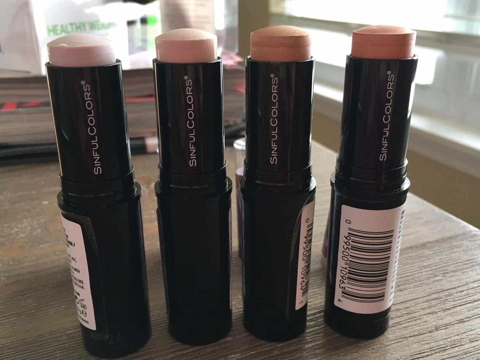 SinfulColors Highlighters Opened Stacked