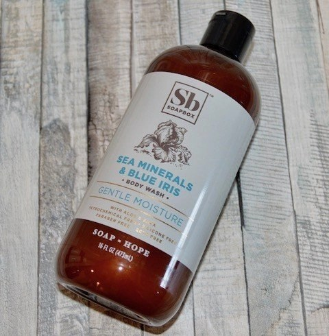 SoapBox Sea Minerals & Blue Iris Body Wash