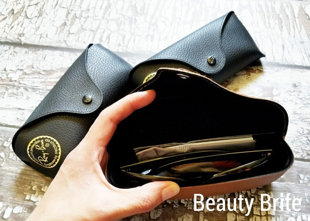 Ray Bans inside case