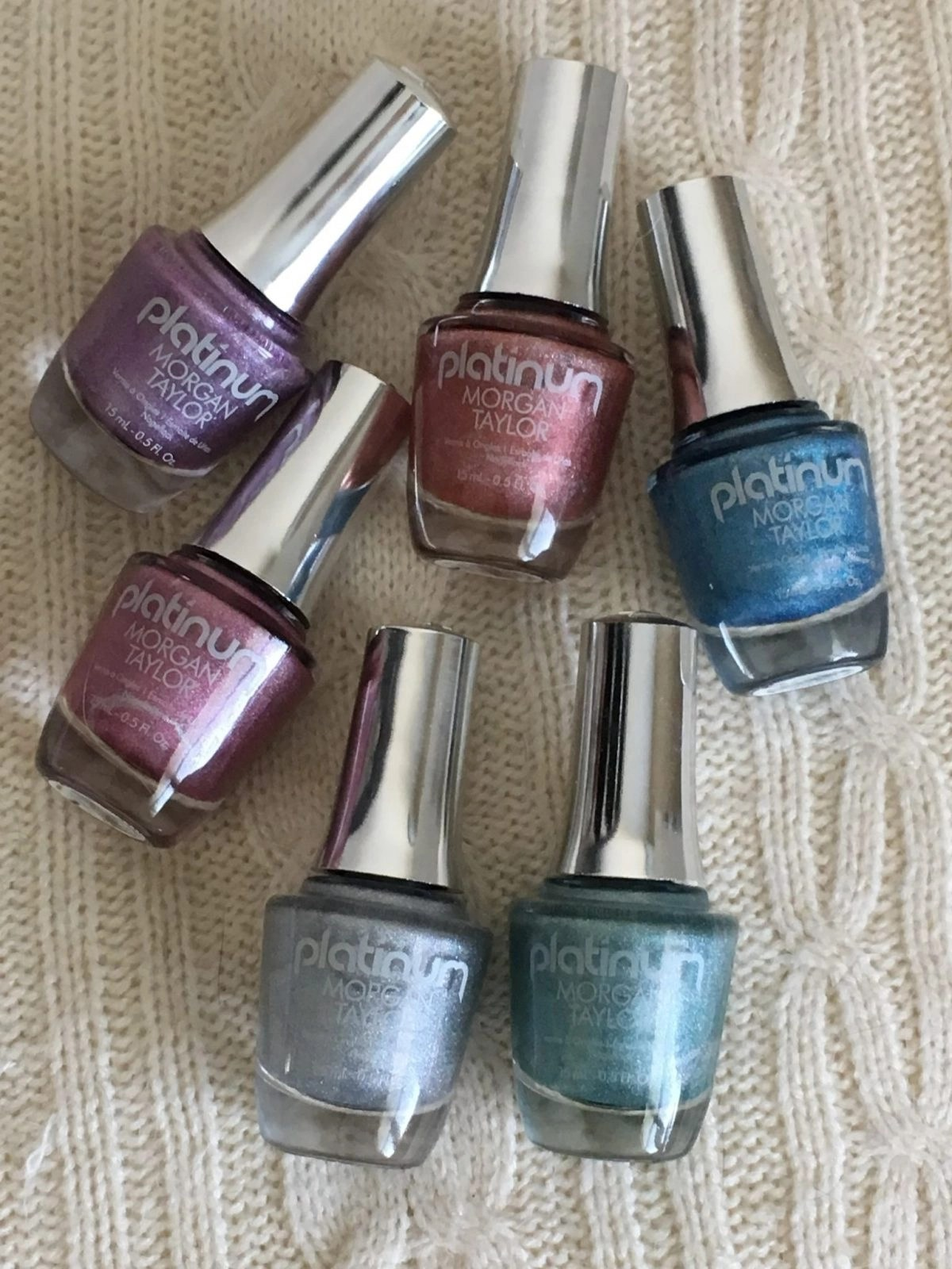 Morgan Taylor Platinum Nail Polishes Main Image