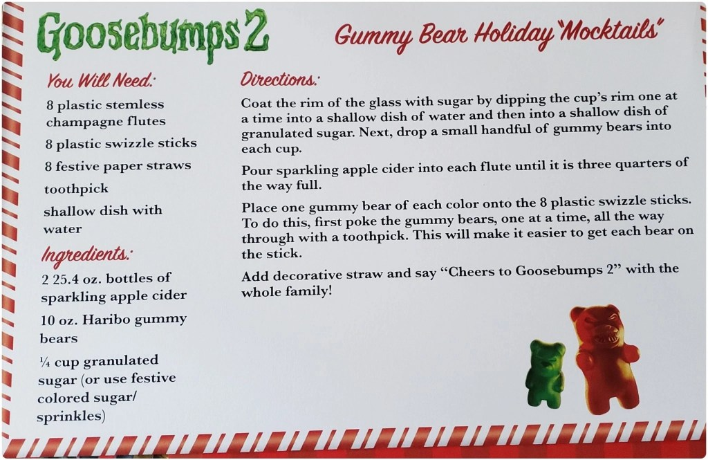 Goosebumps Gummy BEar Holiday Mocktail