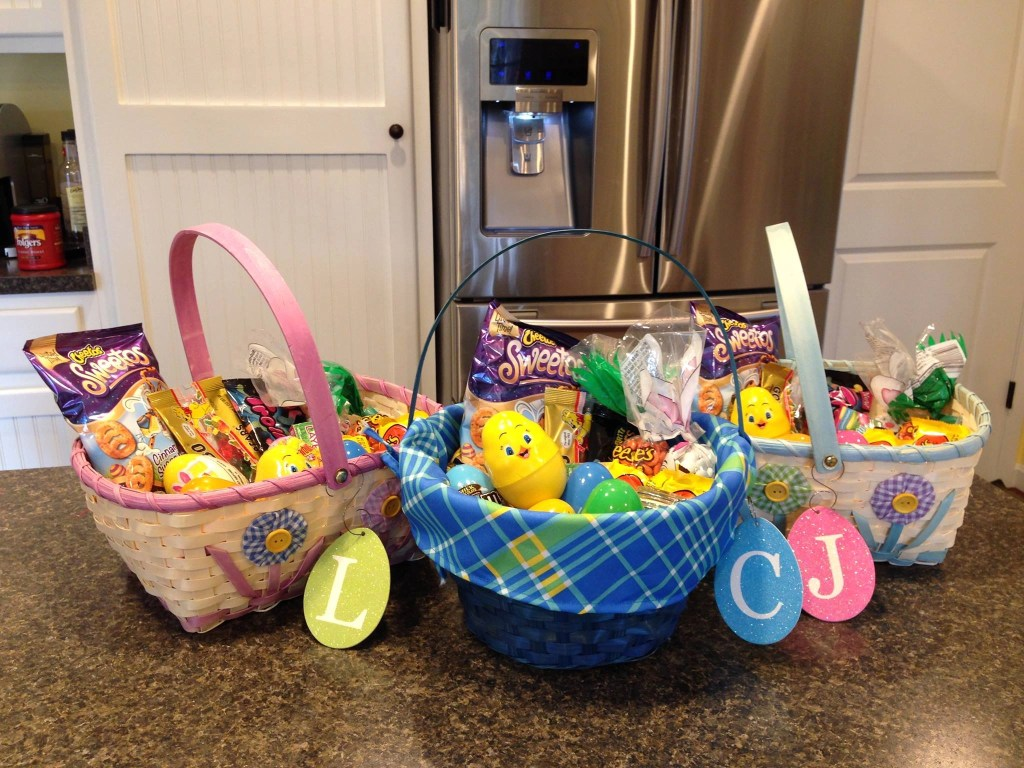 Easter crafts including homemade Easter baskets