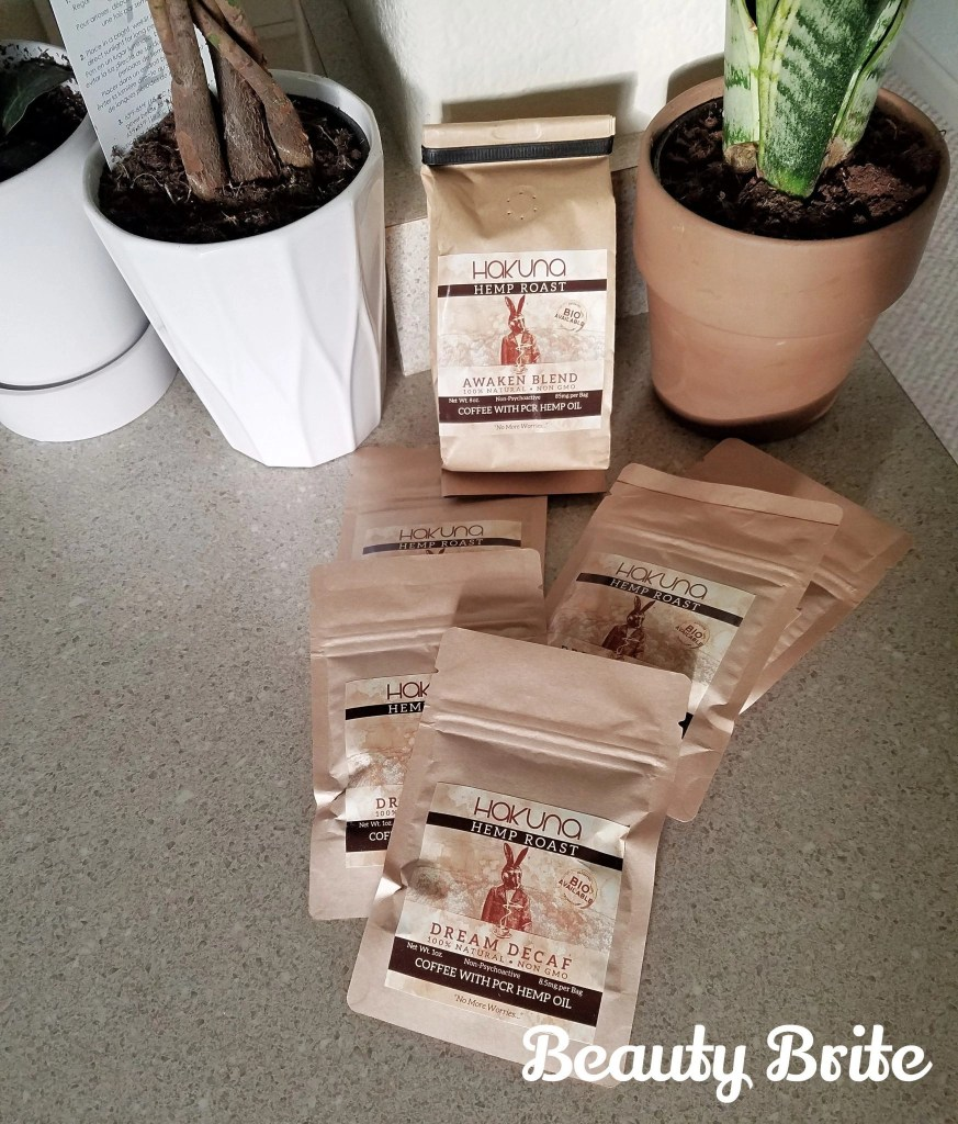 Hakuna Supply CBD coffee on kitchen counter