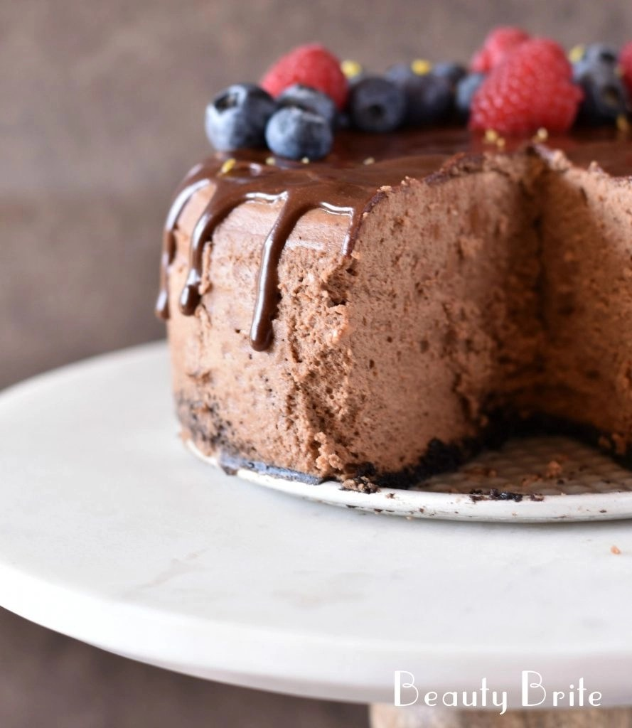 Instant Pot Chocolate Cheese Cake - social media