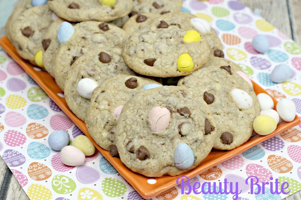 Malt Easter Egg Cookies - social media