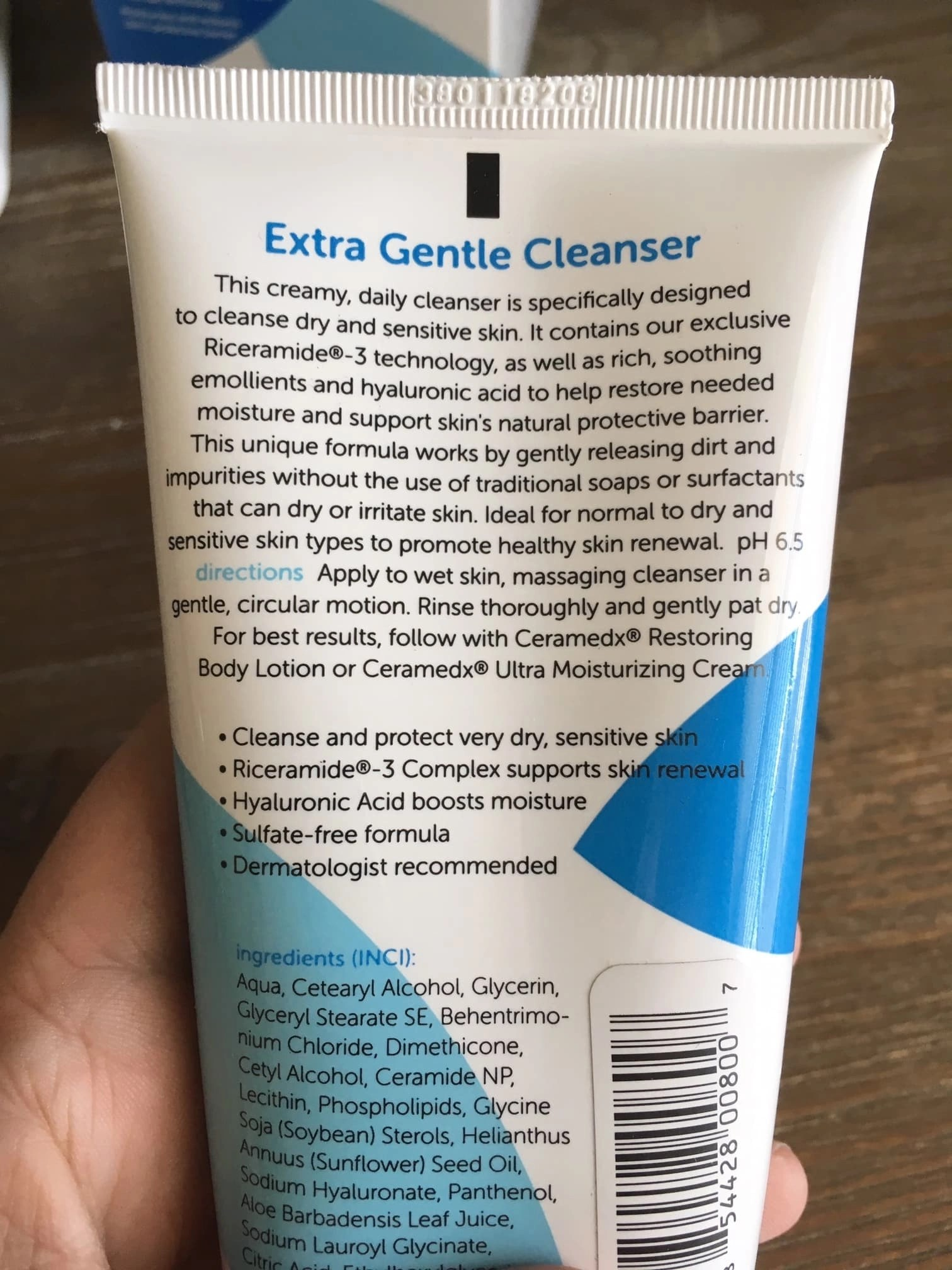 Extra Gentle Cleanser directions and info