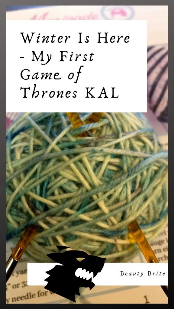 Winter Is Here - My First Game of Thrones KAL-Marinade Designs Game of Thrones Season 8 Ice & Embers Shawl KAL