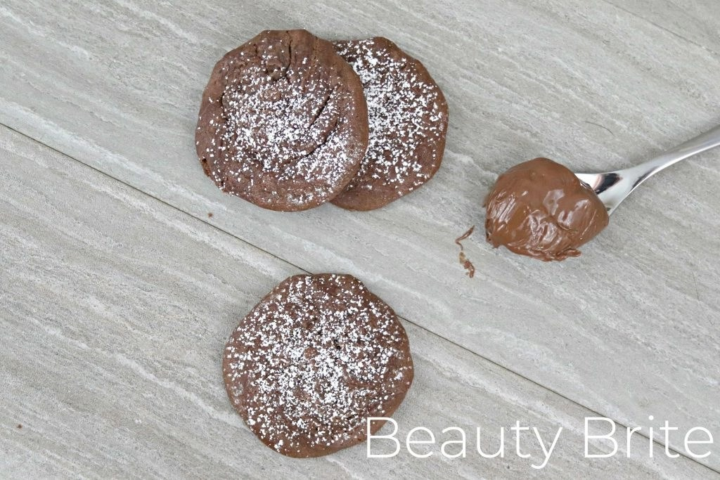 Chewy Sea Salt and Caramel Nutella Cookies - social media
