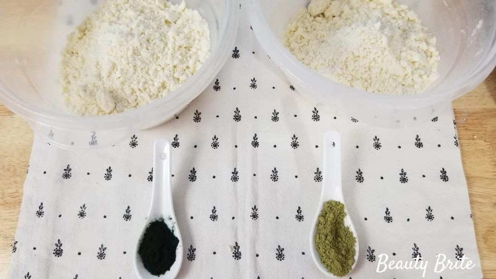 Spirulina and Matcha Bath Bombs Steps 10-11