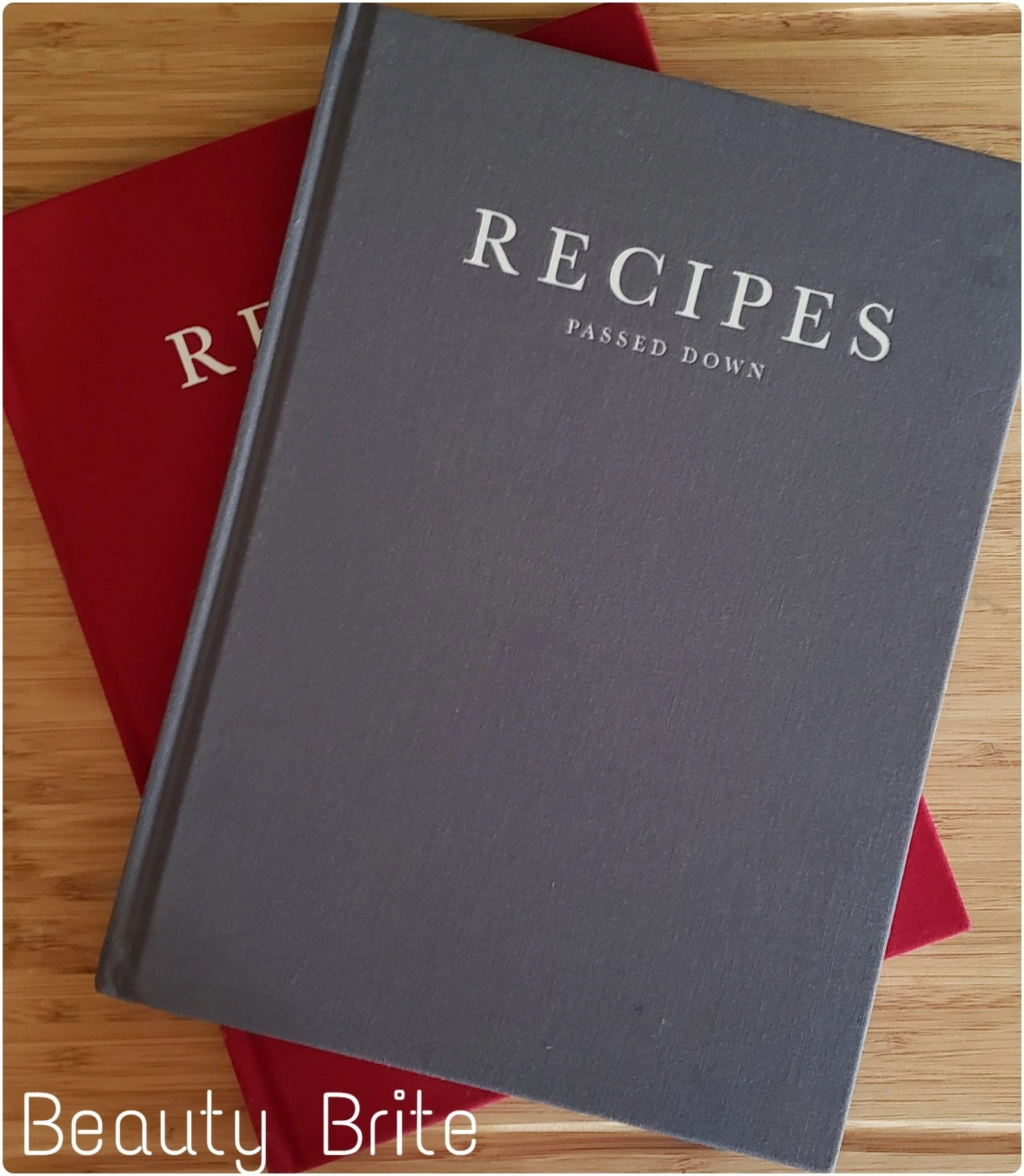 Write To Me Recipes Passed Down Both Cover colors