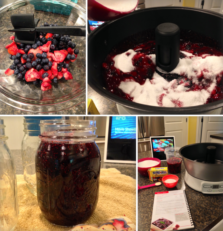 Making Mixed Berry Jam
