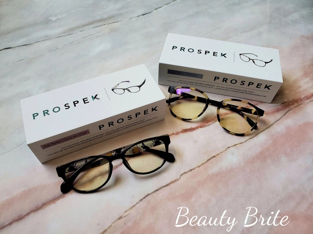PROSPEK Blue Light Blocking Glasses in Cateyes and Artist with boxes