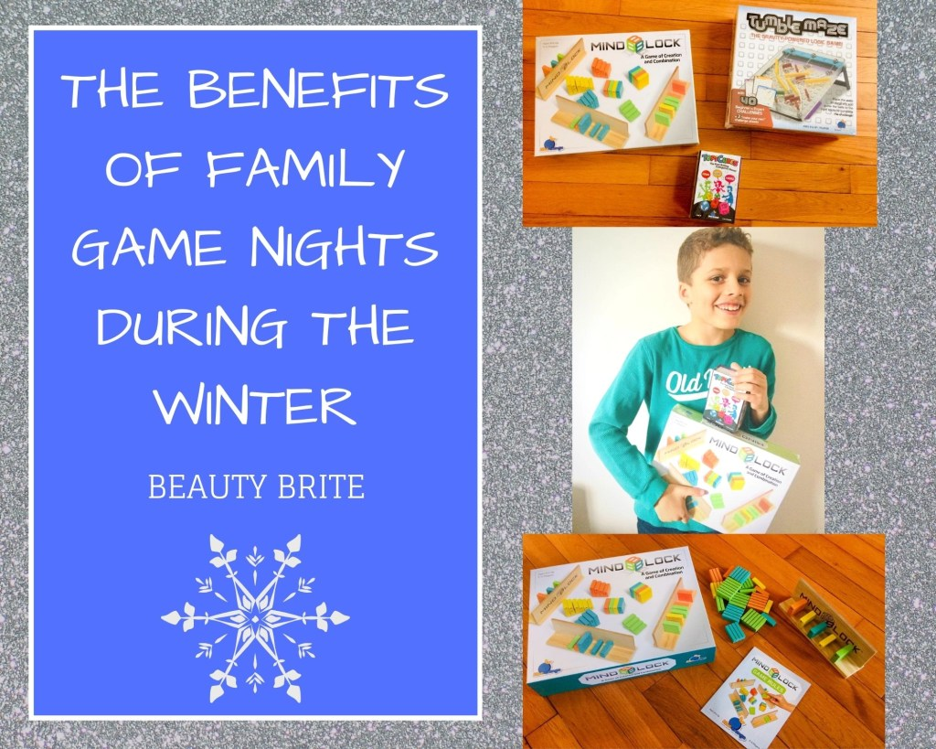 The Benefits of Family Game Nights During The Winter -- Blue Orange Games - MindBlock - TopiCubes - TumbleMaze