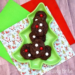 Peppermint MM Chocolate Cookies Recipe