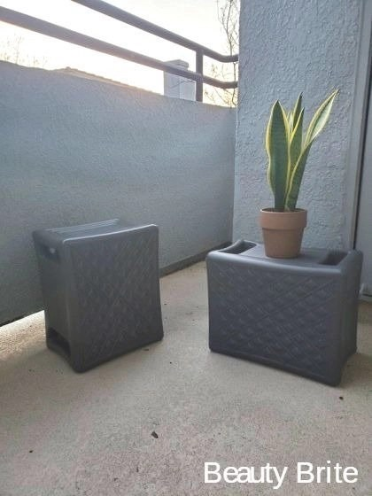 2 pack of Handy Home 3 Level Seats in Grey