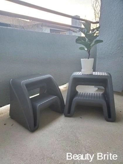 2 pack of Handy Home Step Stools in Grey