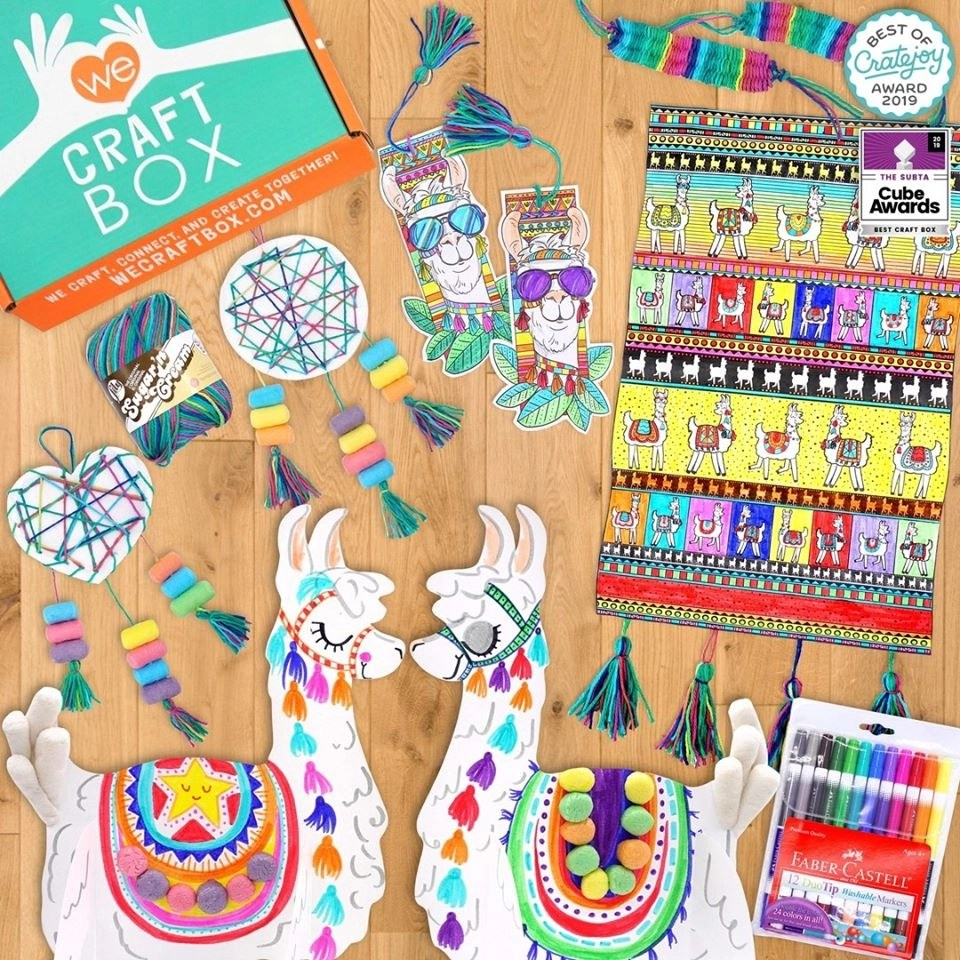 We Craft Box March 2020 Llama Box