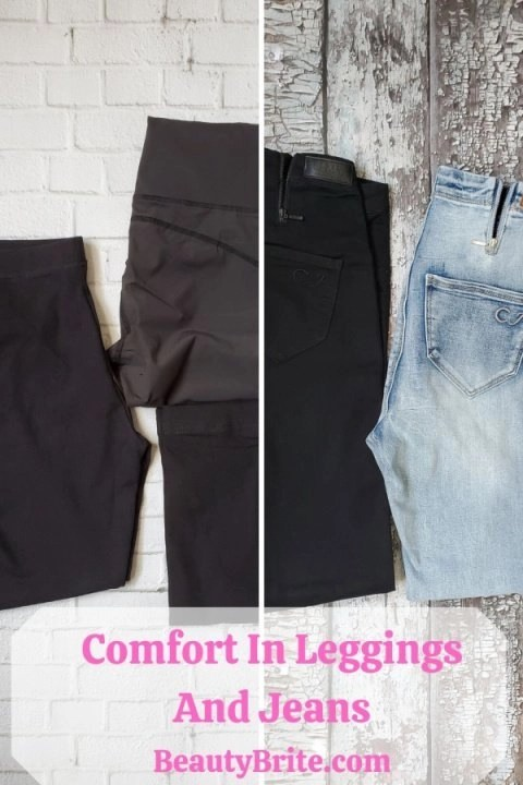 Comfort In Leggings And Jeans
